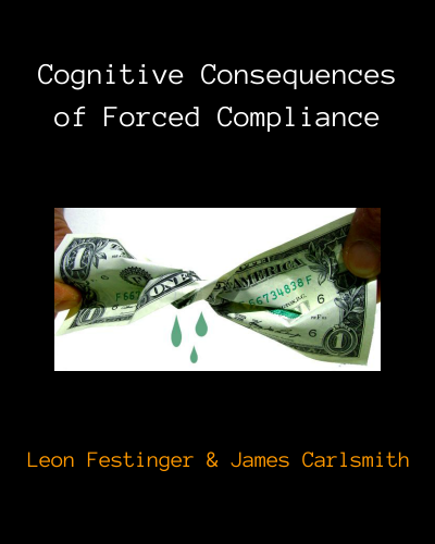 Cognitive Dissonance: Cognitive Consequences of Forced Compliance