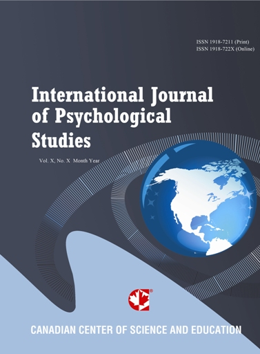 The International Journal of Psychological Studies