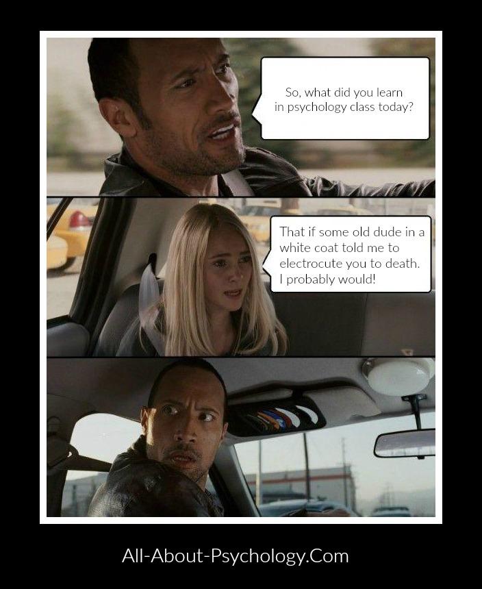 The Rock Driving Psychology Meme