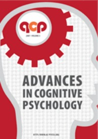 Advances in Cognitive Psychology
