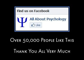 All About Psychology Facebook Page 50000 likes