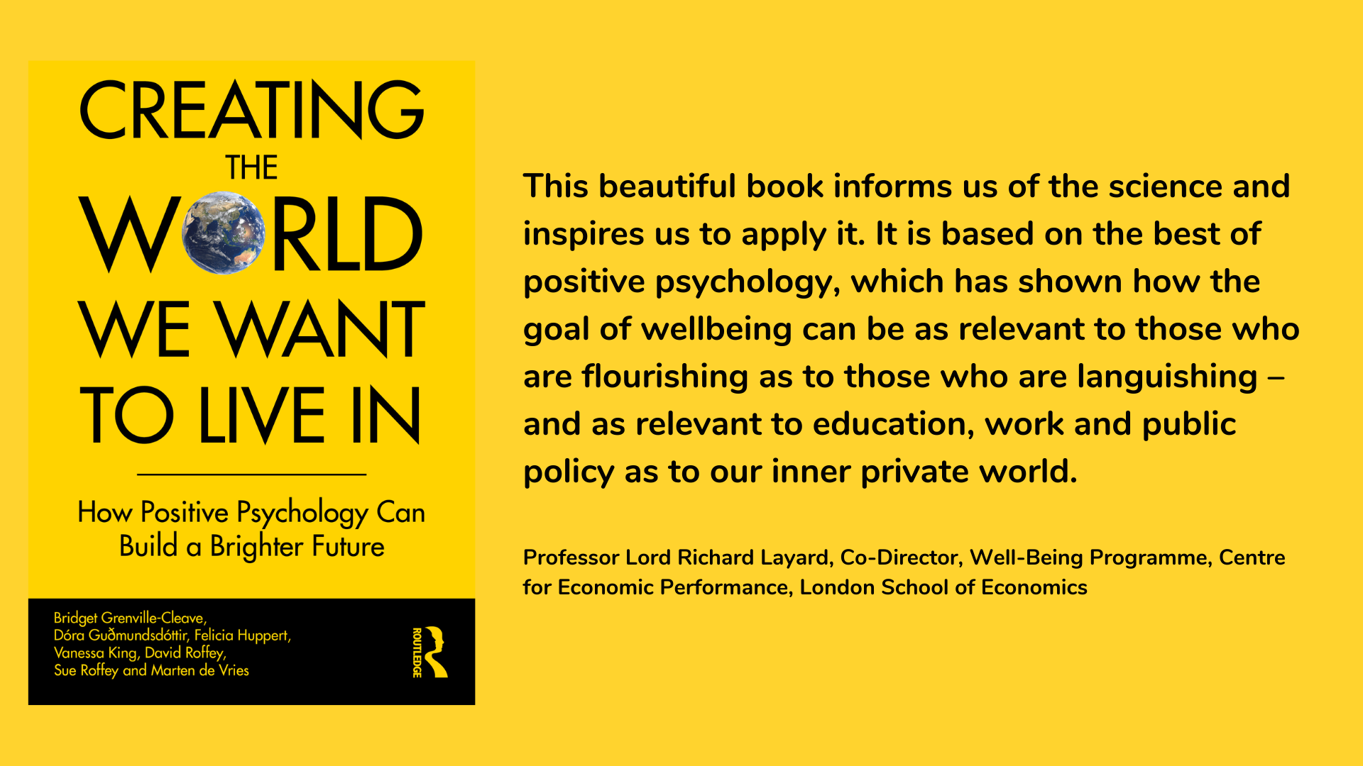 Creating The World We Want To Live In - book cover and review.