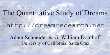 The Quantitative Study of Dreams