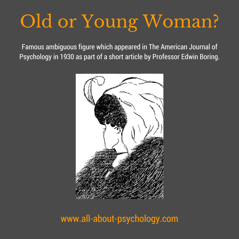 Edwin Boring Old Woman Young Woman Ambiguous Illusion
