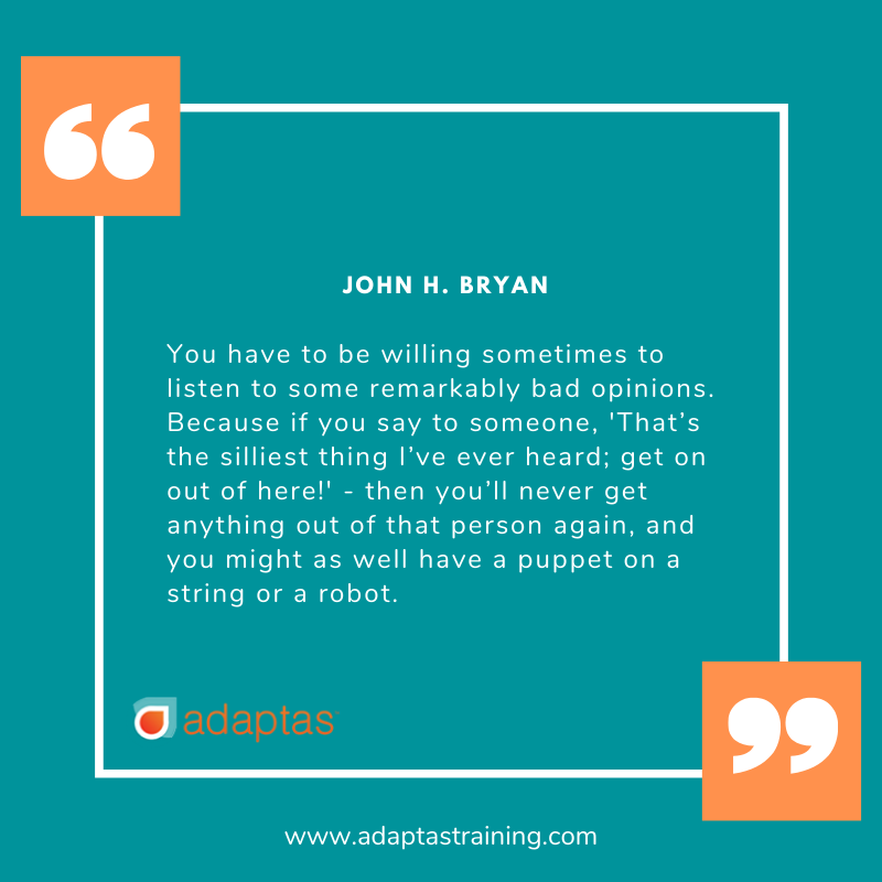 text quote by John H. Bryan