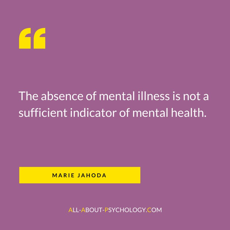 Classic quote by positive mental health pioneer Marie Jahoda