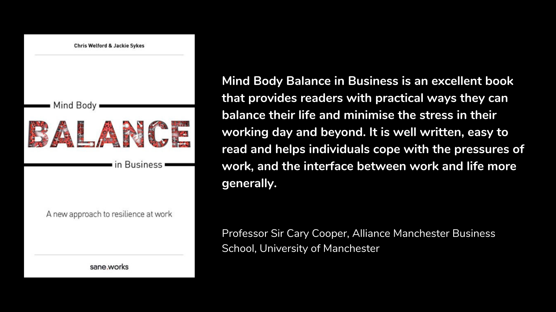 Mind Body Balance in Business: A New Approach To Resilience At Work