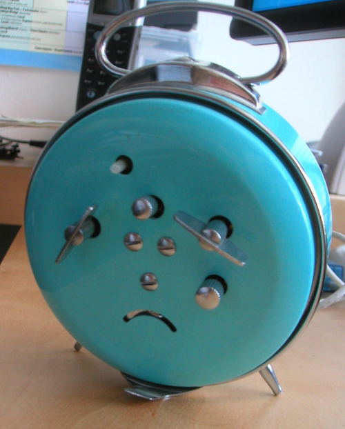 Pareidolia Depressed Alarm Clock