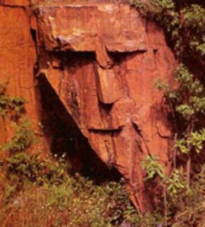 pareidolia Stony Faced