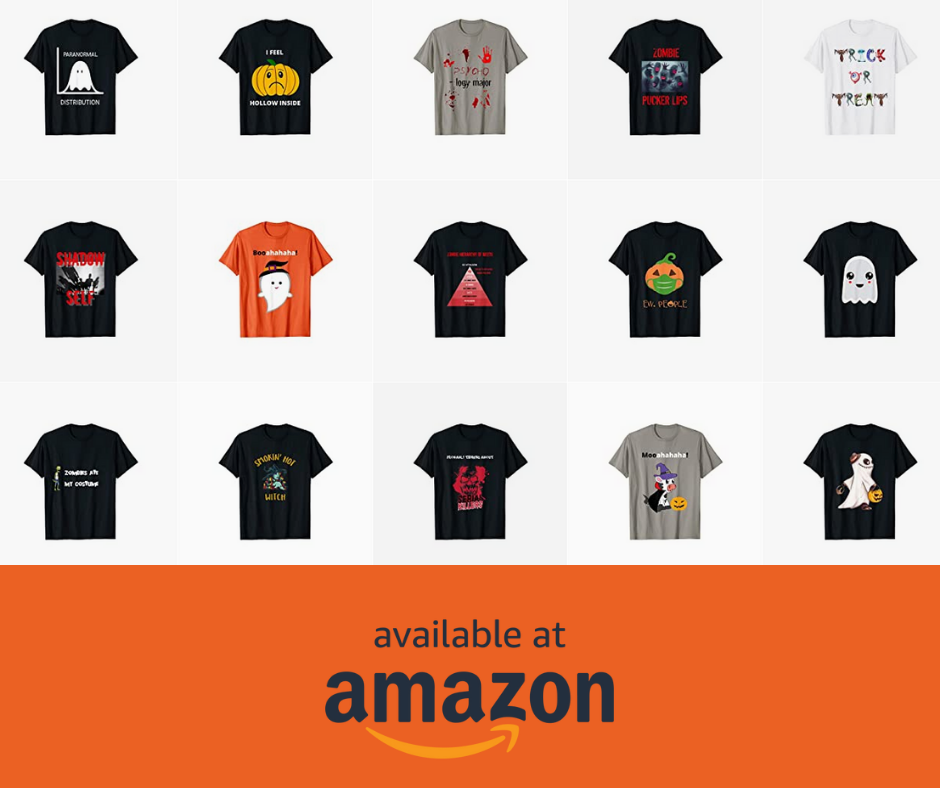 T-Shirts designed for Halloween loving psychology students and teachers.