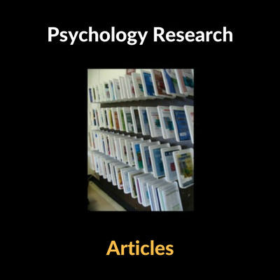 Psychology Research Articles