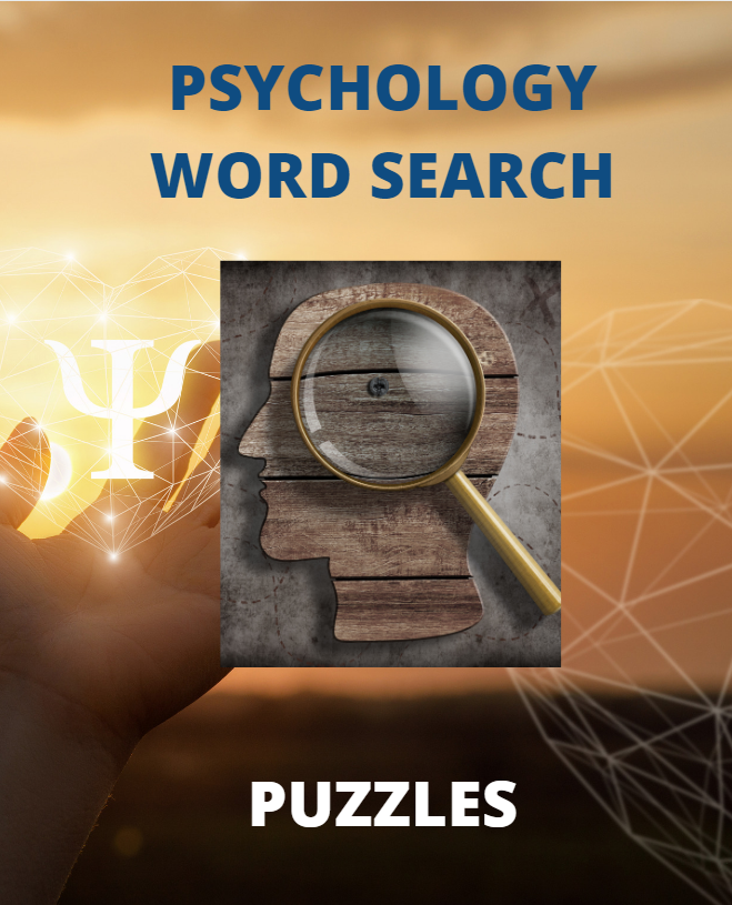 Psychology Word Search Puzzles Book Cover