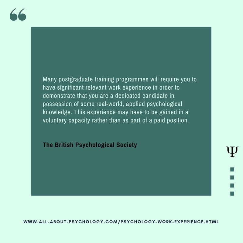 psychology work experience