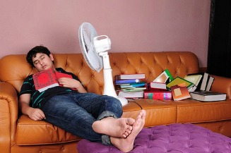 studying & sleeping by mrehan, on Flickr
