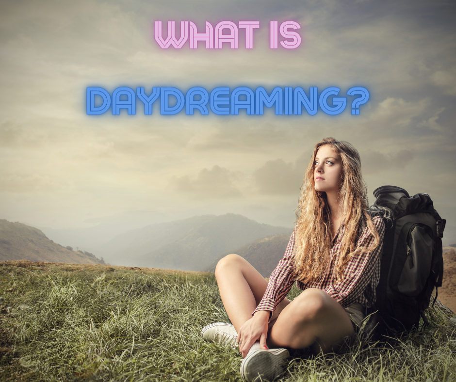 Photo of young woman daydreaming.