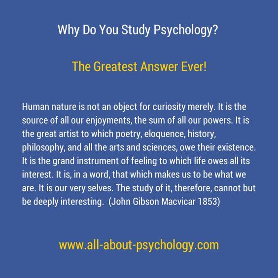 Why do you study psychology?