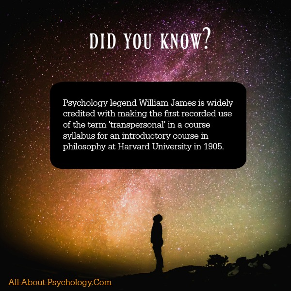 William James Transpersonal Psychology