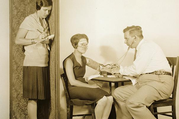 Lie detector test. William Marston