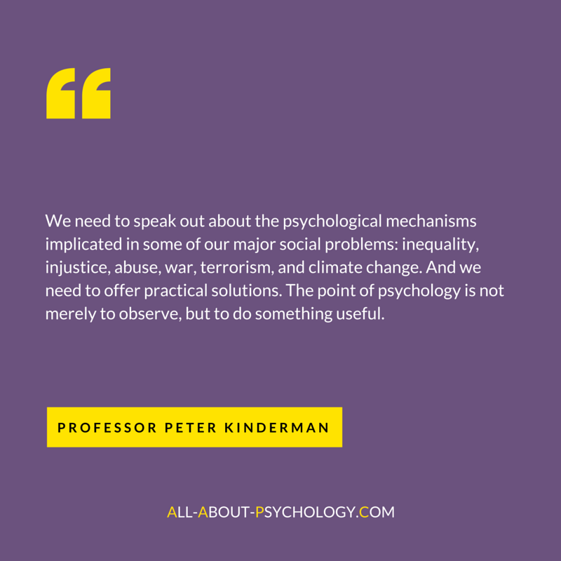 Peter Kinderman Quote About Psychology