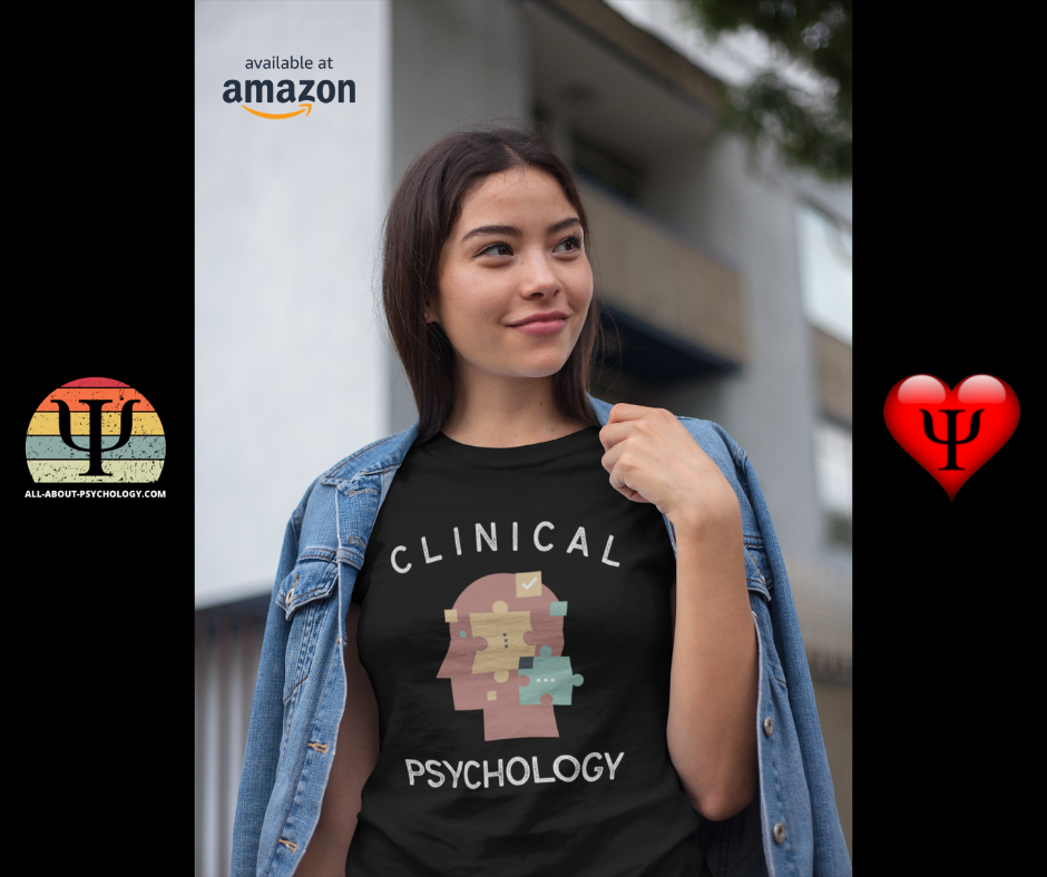 Student wearing Clinical Psychology T-Shirt.