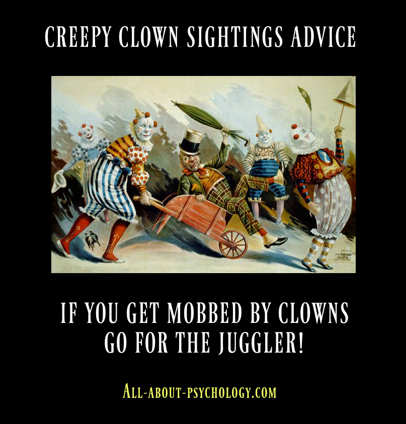 creepy clowns image and joke