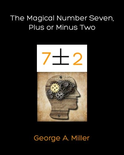 George A Miller The Magical Number Seven Plus or Minus Two