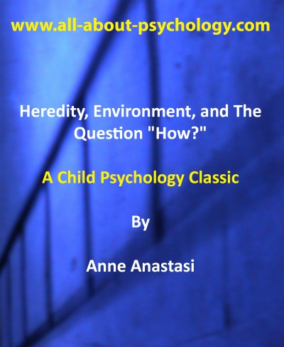 heredity and environment The field of behavioral genetics strives to understand how and why we develop the way we do behavioral genetics seeks to find how not only heredity, but also environment, plays a role in the development of human beings.