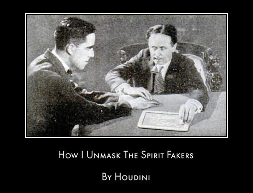 Houdini Article The Spirit Fakers