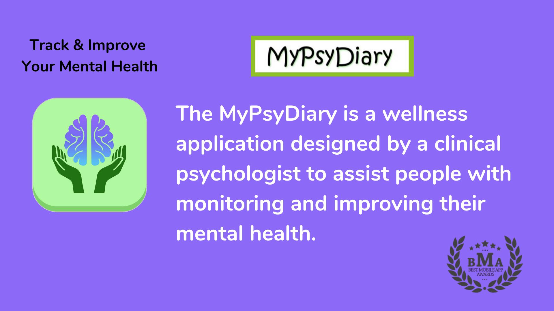 MyPsyDiary: Award Winning Mental Health App!