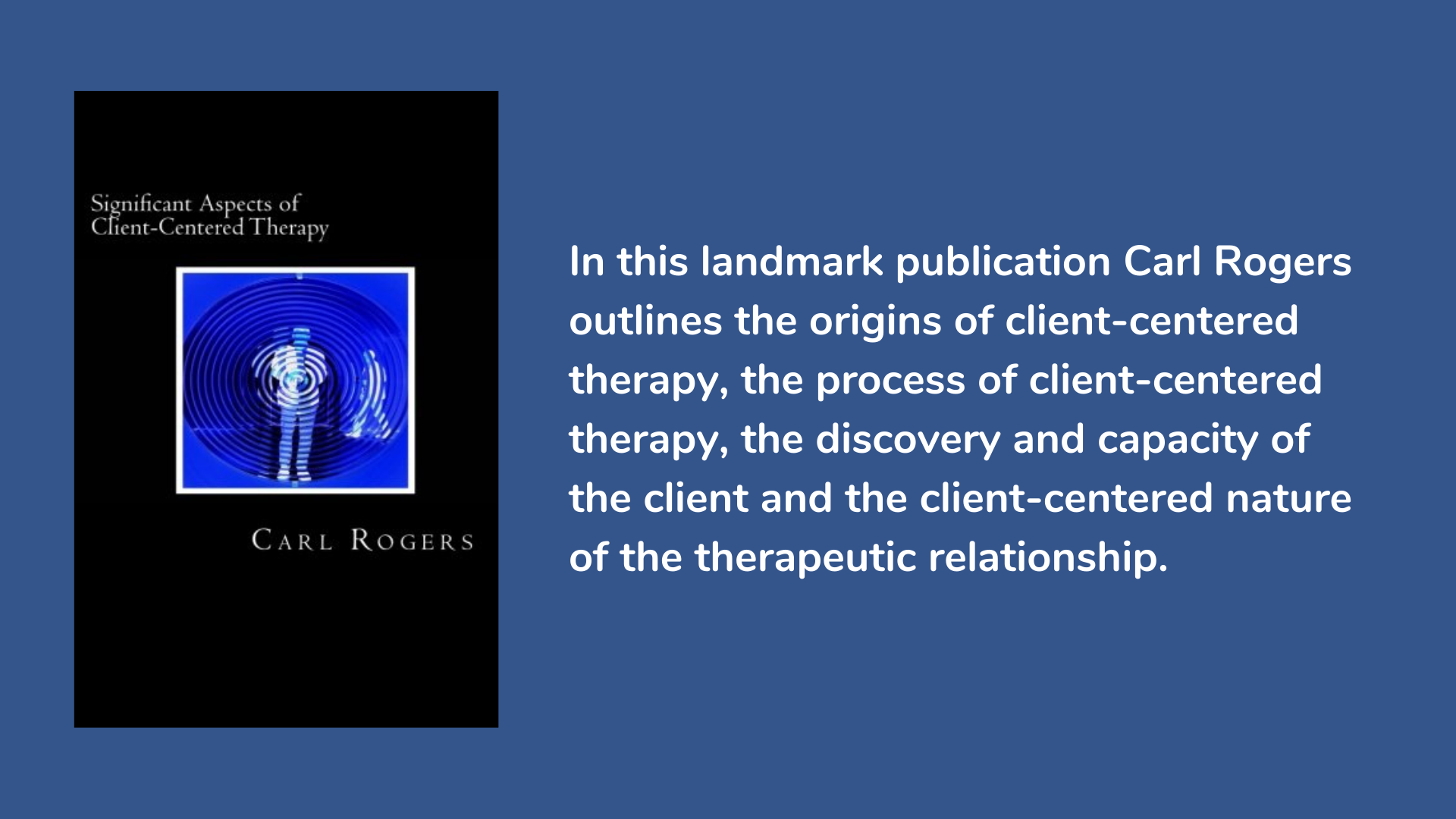 Significant Aspects of Client-Centered Therapy by Carl Rogers, Book Cover and Description