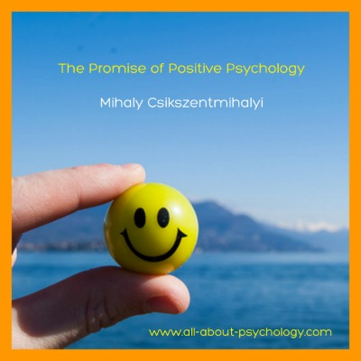 The Promise of Positive Psychology