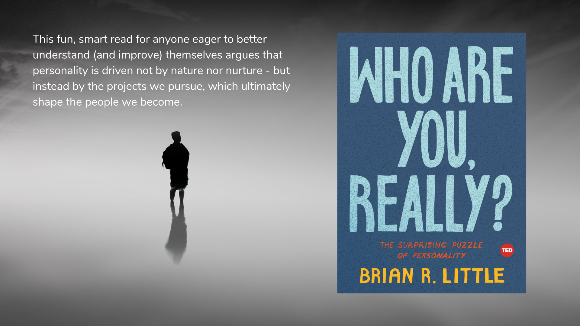 Who Are You, Really? The Surprising Puzzle of Personality by Dr. Brian Little - book cover and description.